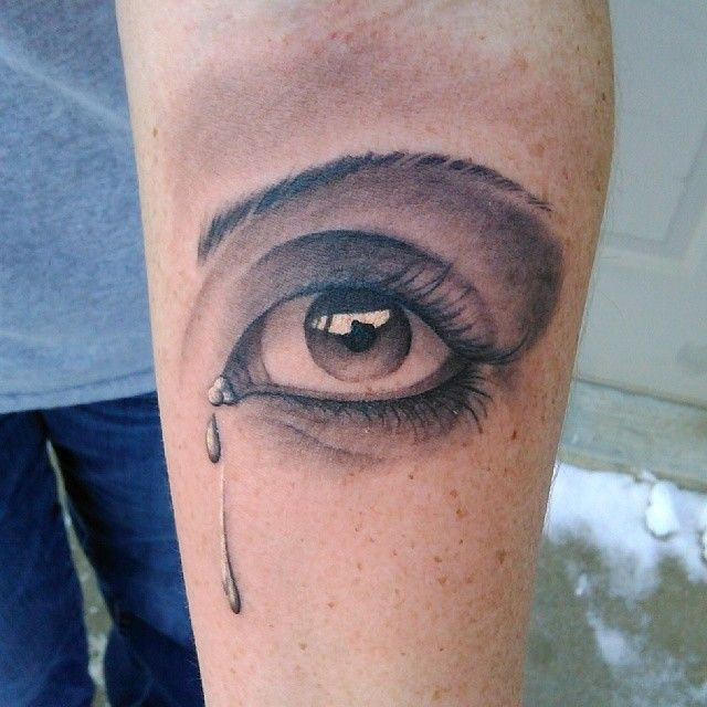 Tattoo Woman Eyes: Crying Eye Tattoo More At Http://tattoo-swag.com/9-amazing