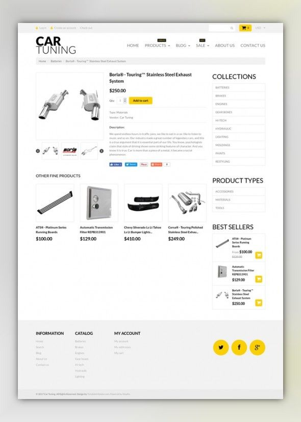 Car Tuning Shopify Theme 52725 Web Inspiration Ecommerce