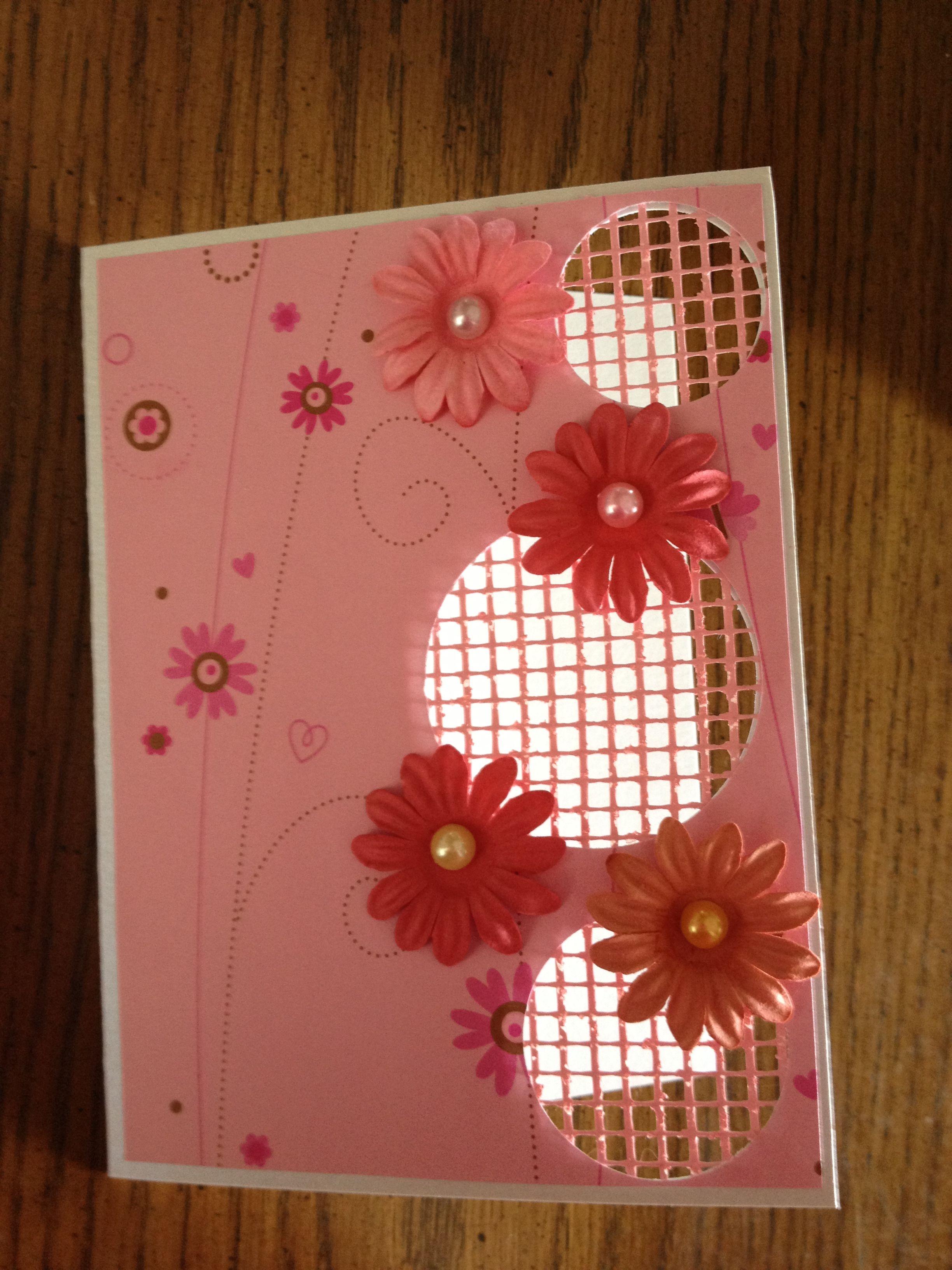 Card cut out w/mesh
