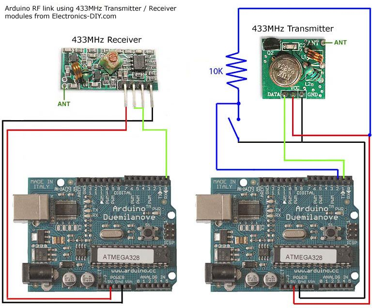 Arduino Rf Link Using 433mhz Transmitter Receiver