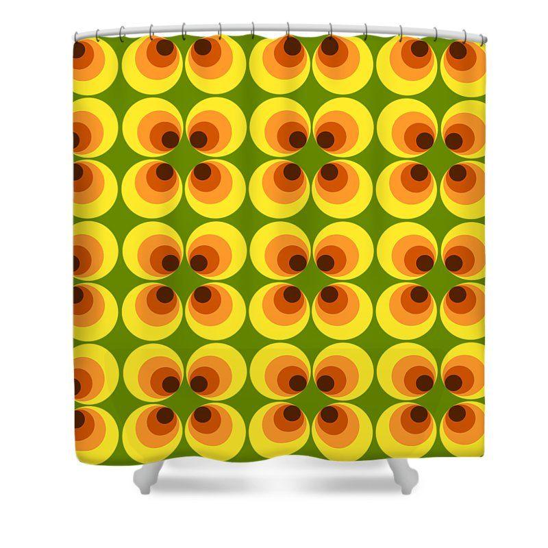 Retro Shower Curtain Featuring The Digital Art Retro 77 Retro