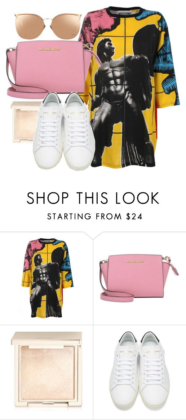 """Sin título #30"" by sarai-almaguer on Polyvore featuring moda, Moschino, MICHAEL Michael Kors, Jouer, Yves Saint Laurent y Linda Farrow"