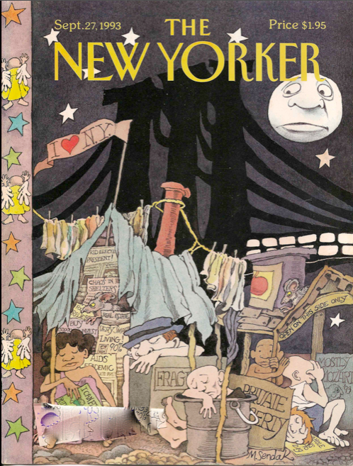 design cover the new yorker by Maurice Sendak