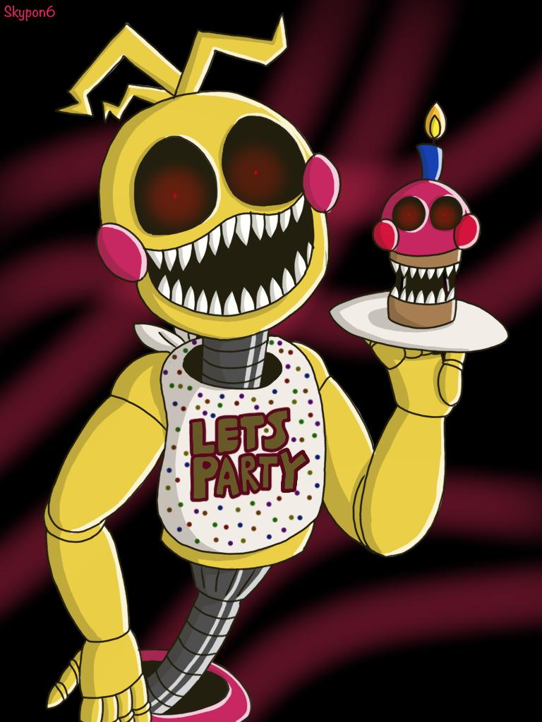 Nightmare toy Chica (Speedpaint) by Skypon6 | Fnaf | Fnaf