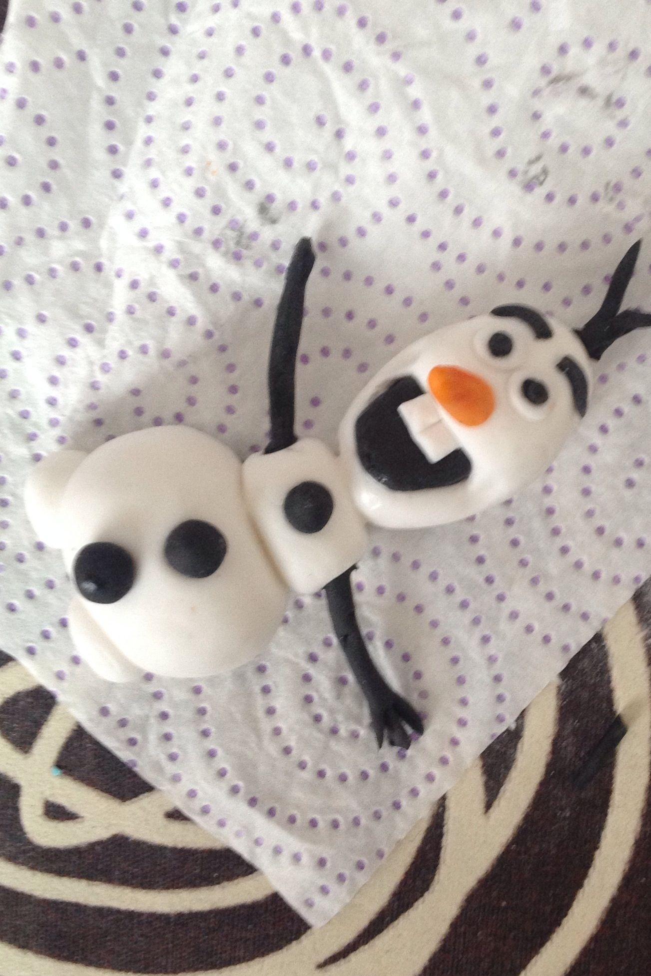 Olaf frozen fondant