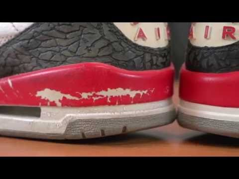 d4798a770d0d77 ... closeout restorations with vick air jordan fire red 3 deep cleaning  midsole r.. e5fae