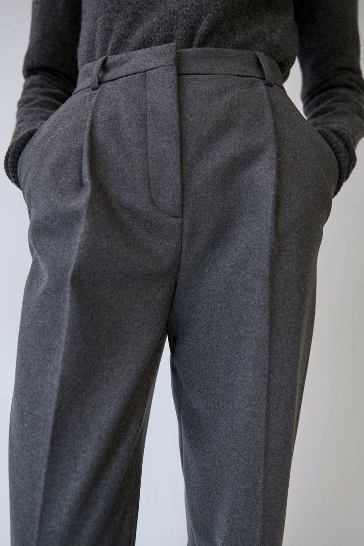 Flannel formal dress  Acne Studios  Tabea flannel grey melange  Style  Pinterest  Acne