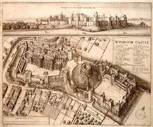 Windsor Castle Evolved Norman Motte and Bailey Castle in England