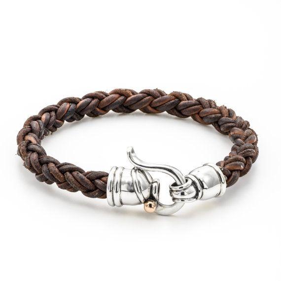 Leather bracelet, brown leather bracelet, gift for him, birthday gift idea, free shipping, men birthday gift idea, bracelet for men, brown #braidsformen