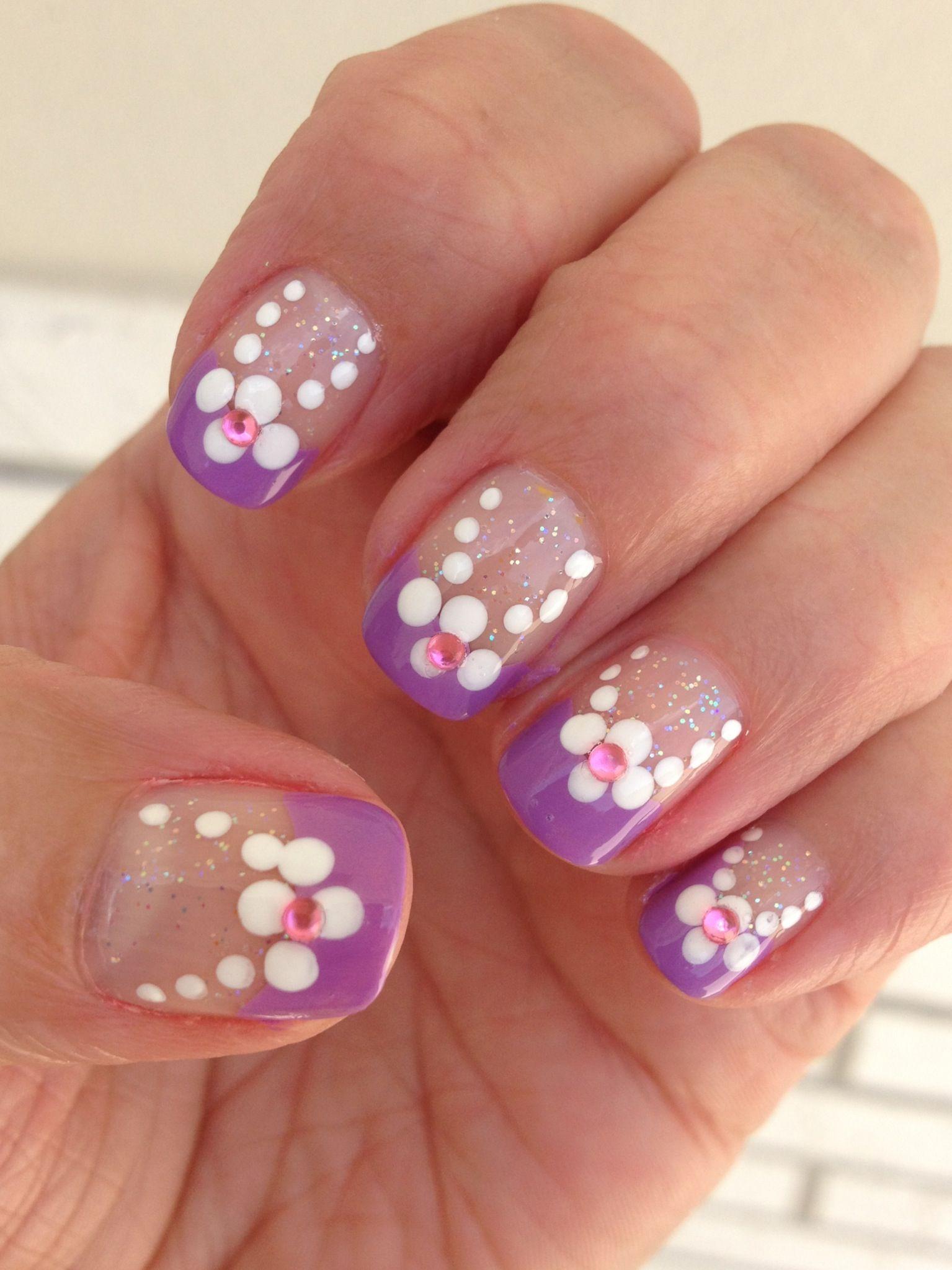 Easy Summer Flower Nail Art Nail Art Pinterest Flower Nail Art