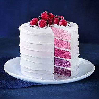 Rainbow Layer Cake With Raspberry Frosting Recipes To
