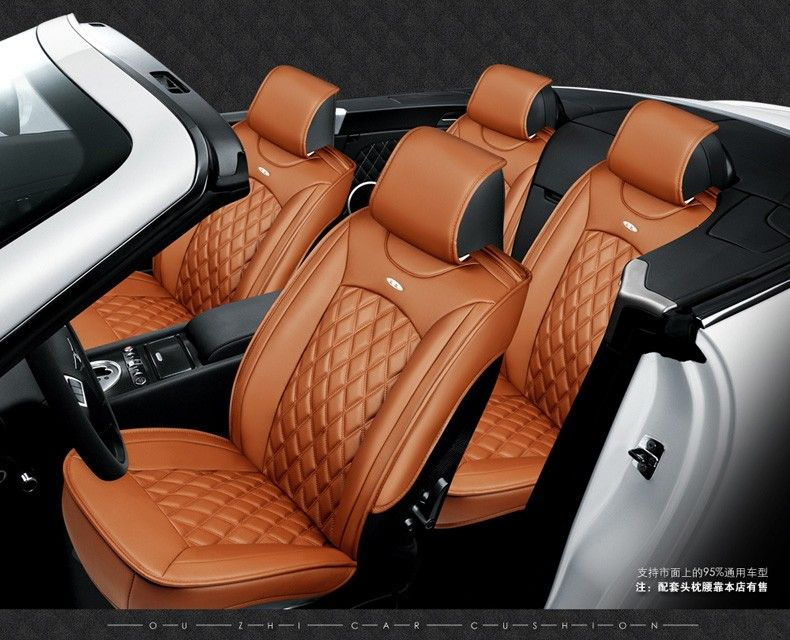For Subaru Xv Forester Outback Legacy Impreza Black Brand Luxury Car Leather Seat Cover Front Rear Complete Leather Seat Covers Car Seats Interior Accessories