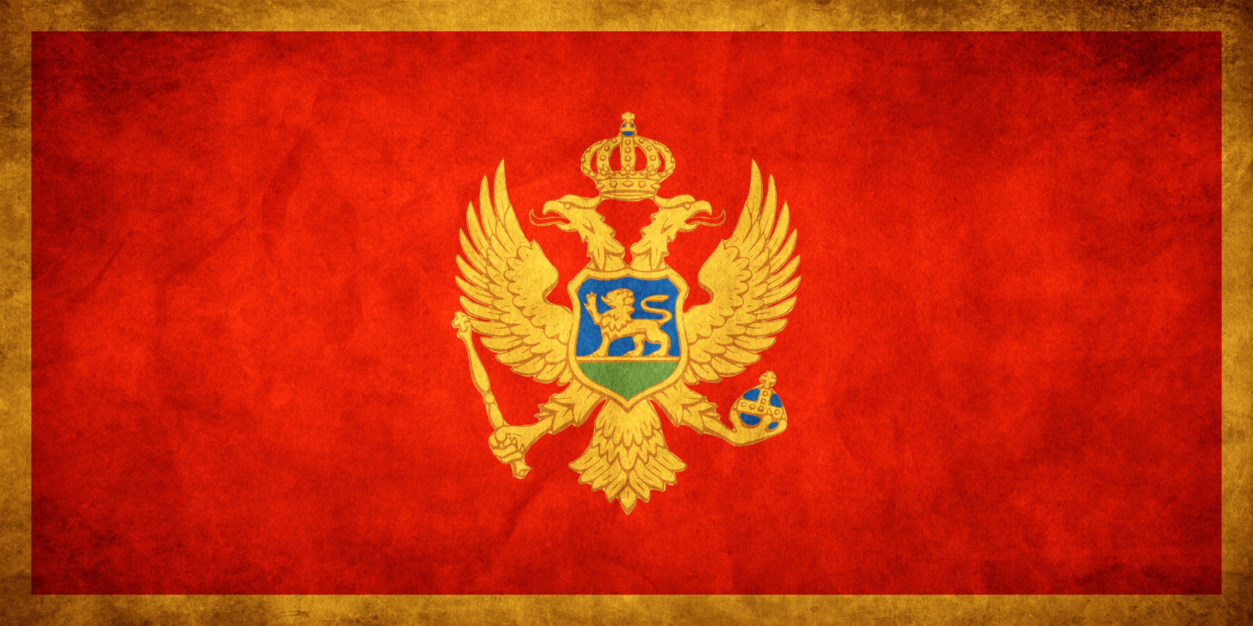 Montenegro Grungy Flag By Think0 Jpg 4000 2000 Montenegro Flaggen Hintergrund Iphone