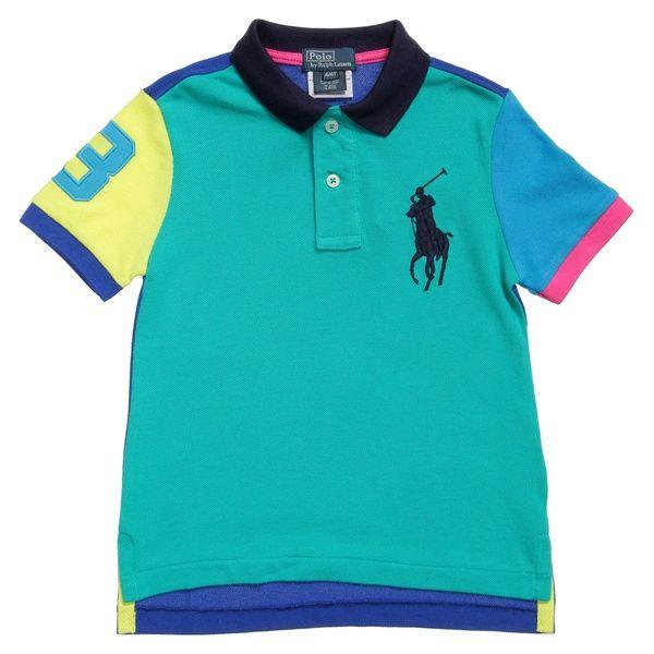 Boys Blue Cotton Polo T-Shirt 55.00 £ - Ralph Lauren