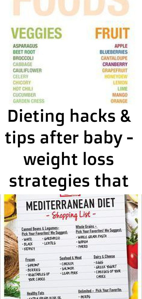 Dieting hacks & tips after baby - weight loss strategies that work! 1