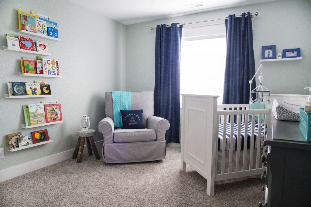 We love that this nursery just has a touch of nautical inspriation...