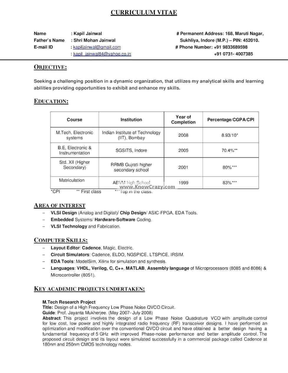 resume template architect Professional in 2020 Job