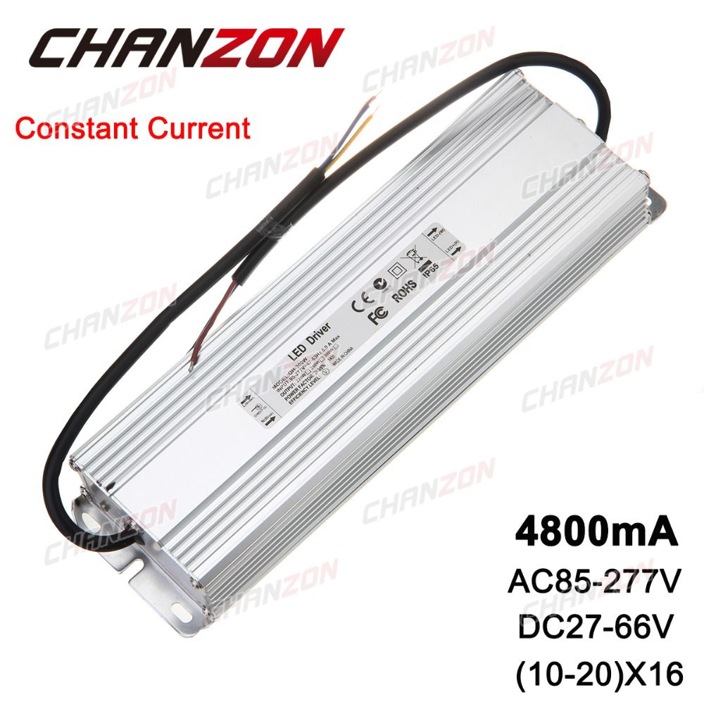 Constant Current Led Driver 10 20x16 4800ma 27 66v 160w 200w 300w Ip67 Waterproof Lamp Light Power Supply Lighting Tran Constant Current Led Drivers Lamp Light