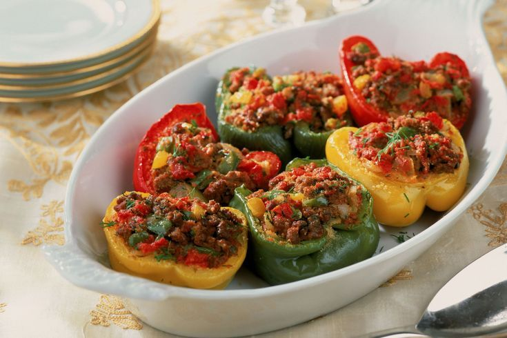 Make These Easy Baked Stuffed Peppers With Ground Beef And Corn Recipe Stuffed Peppers Recipes Stuffed Bell Peppers