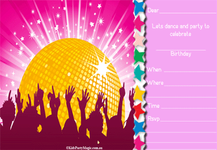 Disco Kid Party Google Search Disco Party Erins Th Birthday - Disco party invites templates free