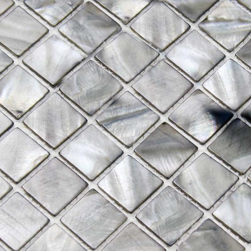 shell tiles grey seashell mosaic mother of pearl tiles kitchen backsplash tile design BK012 - black mosaic tile