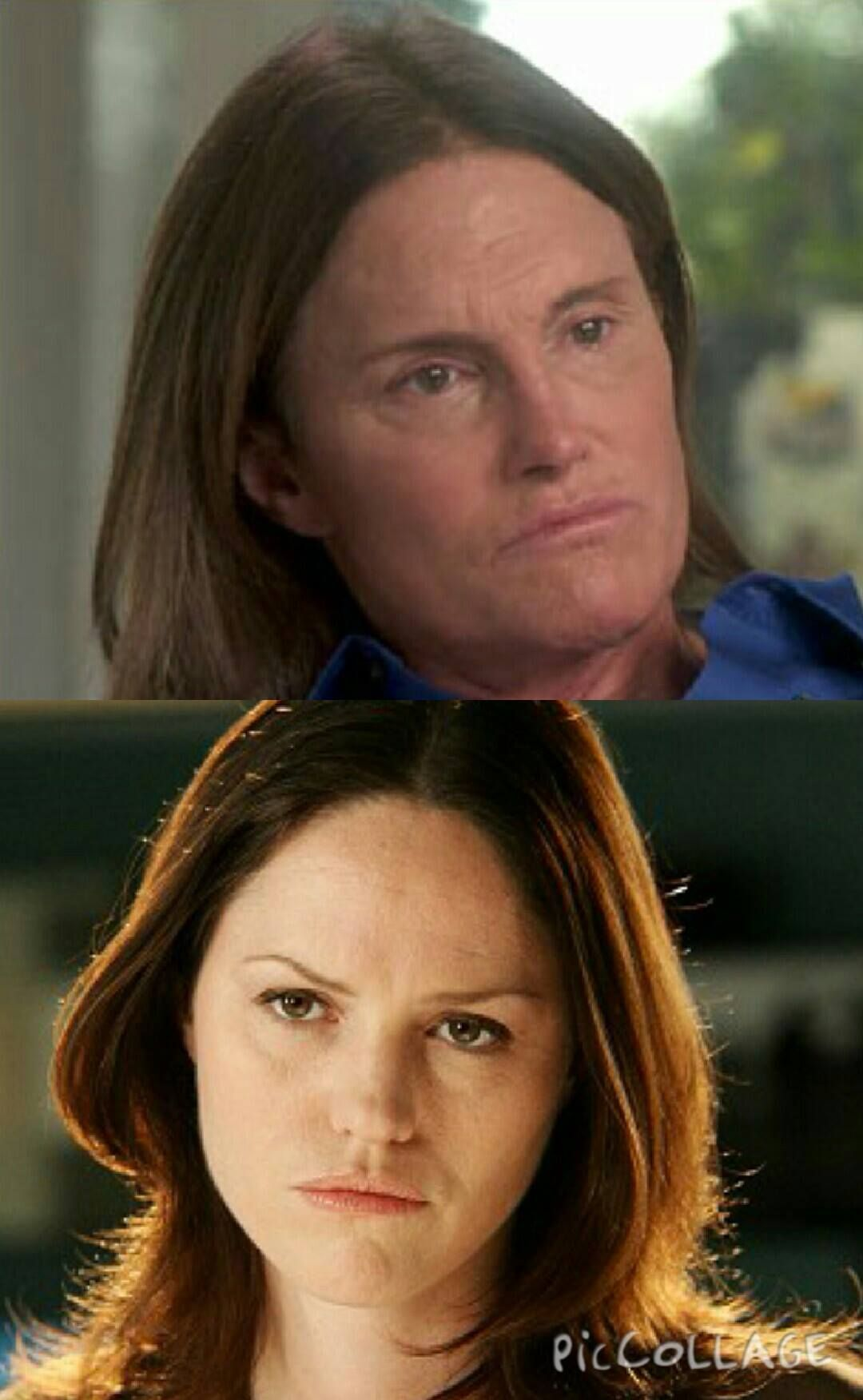 Bruce Jenner/Jorja Fox = Twins! #brucejenner #jorjafox #doppelgangers #celebtwins #sarasidle #kardashian