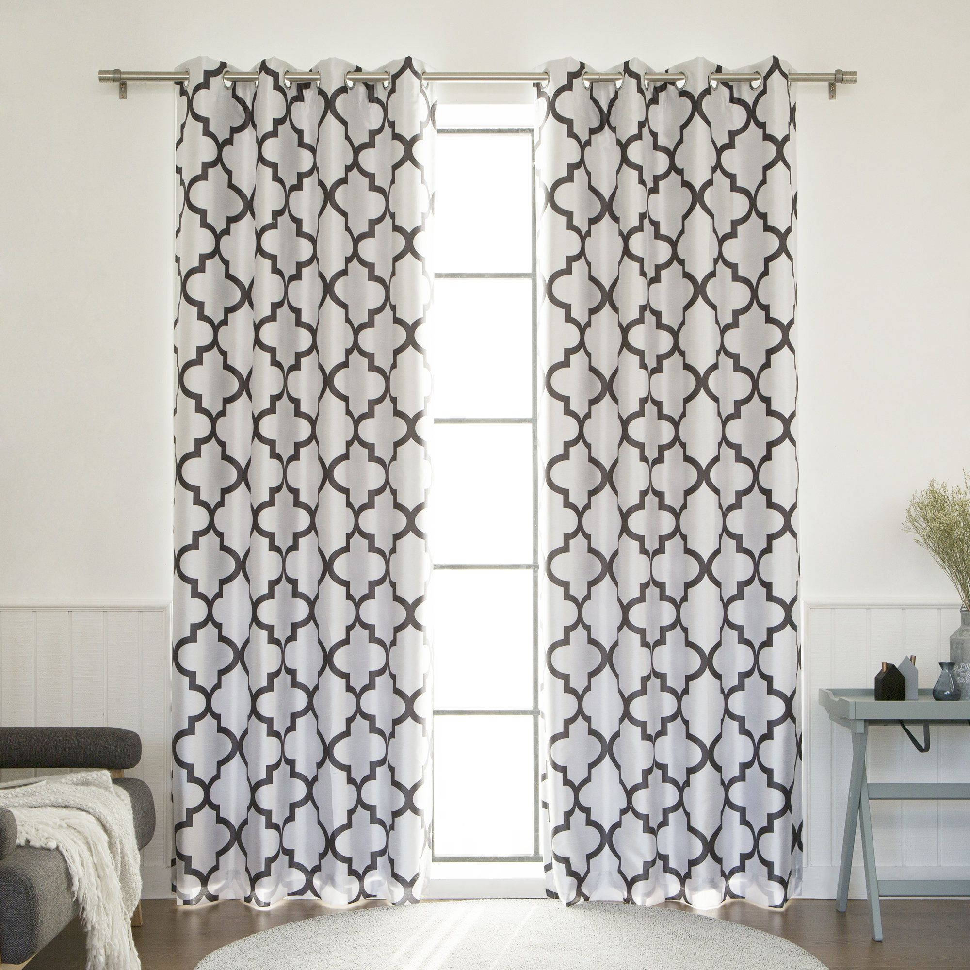 Columbard tile blackout thermal single curtain panel products