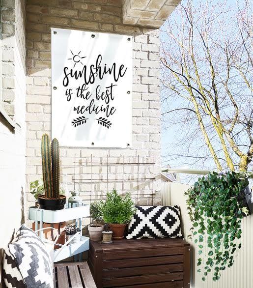 Gardenposter sunshine is the best medicine in 2019 for Tuinposters intratuin