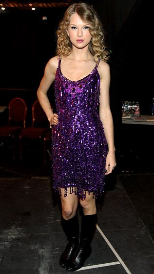 79a54bac Taylor Swift's Sparkly Sequin Dresses: Jenny Packham~ #purple and #sparkle  together for a dress? Um YES please!!!!!! <3 LOVE!