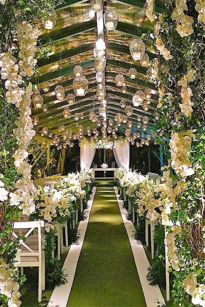 30 Beautiful Wedding Aisle Decoration Ideas | Wedding ...