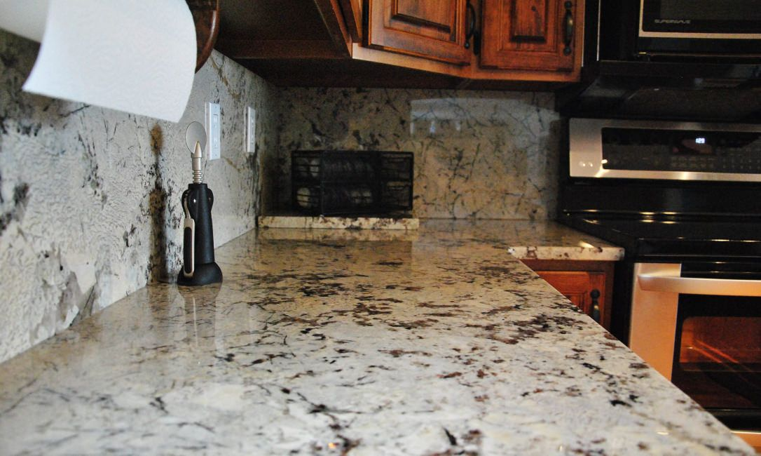 Image Result For White Granite Countertops With Brown Veins