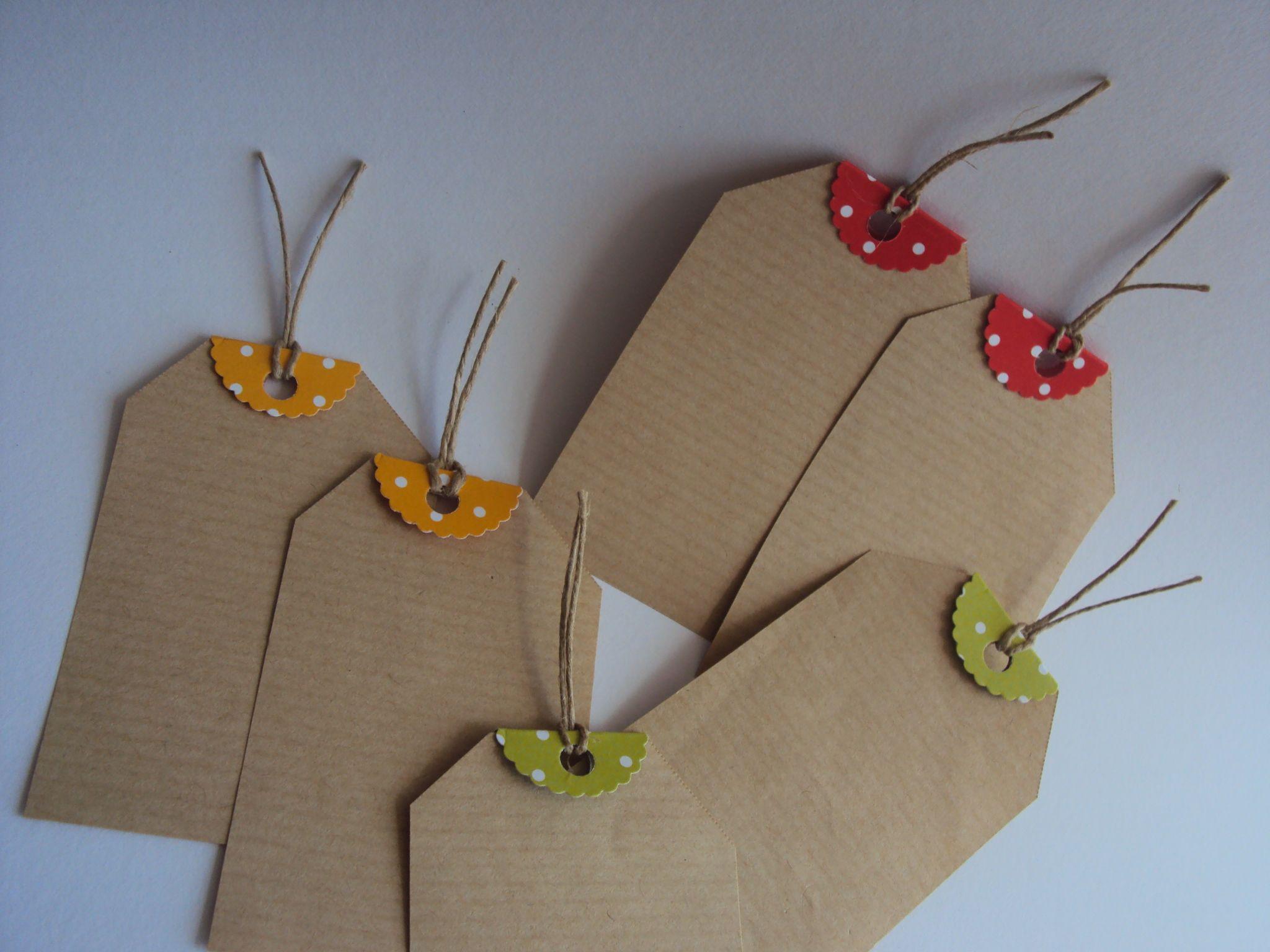 Etiquetas em papel craft