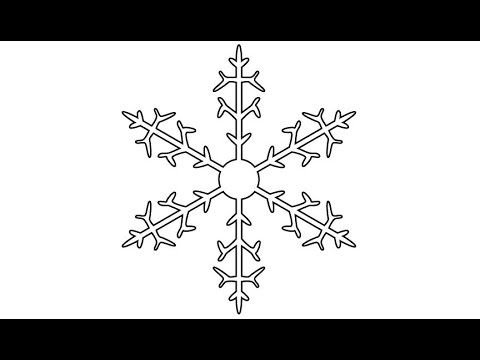 Very Easy Way to Draw a Snowflake Using the Reflect and