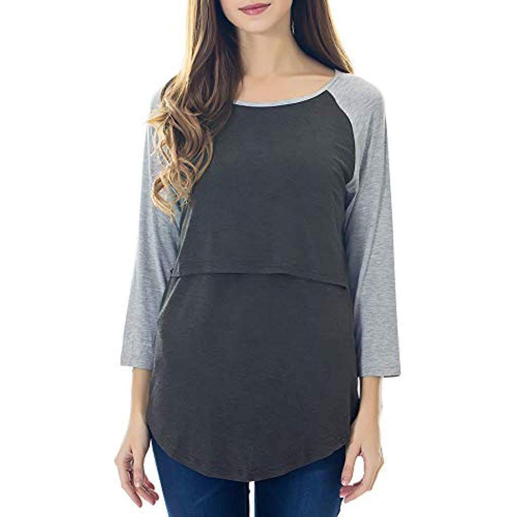 e9d573a8075a0 Smallshow - T-Shirt à Manches Longues - À Fleurs - Col Rond - Manches