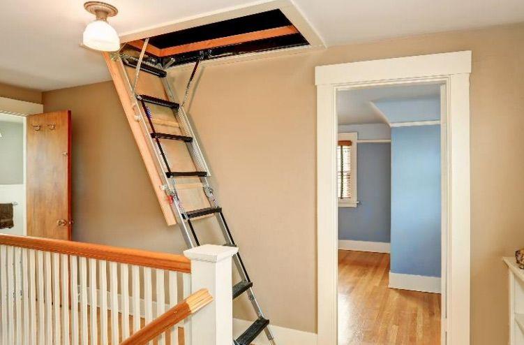 Loft Ladder Installation In Uk Attic Renovation Attic Remodel Attic Design