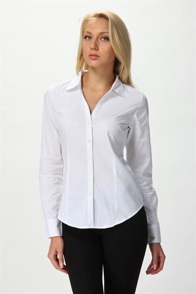 44e866dd8c17 Классическая белая блузка   Что надеть   Sewing clothes, Blouse ...