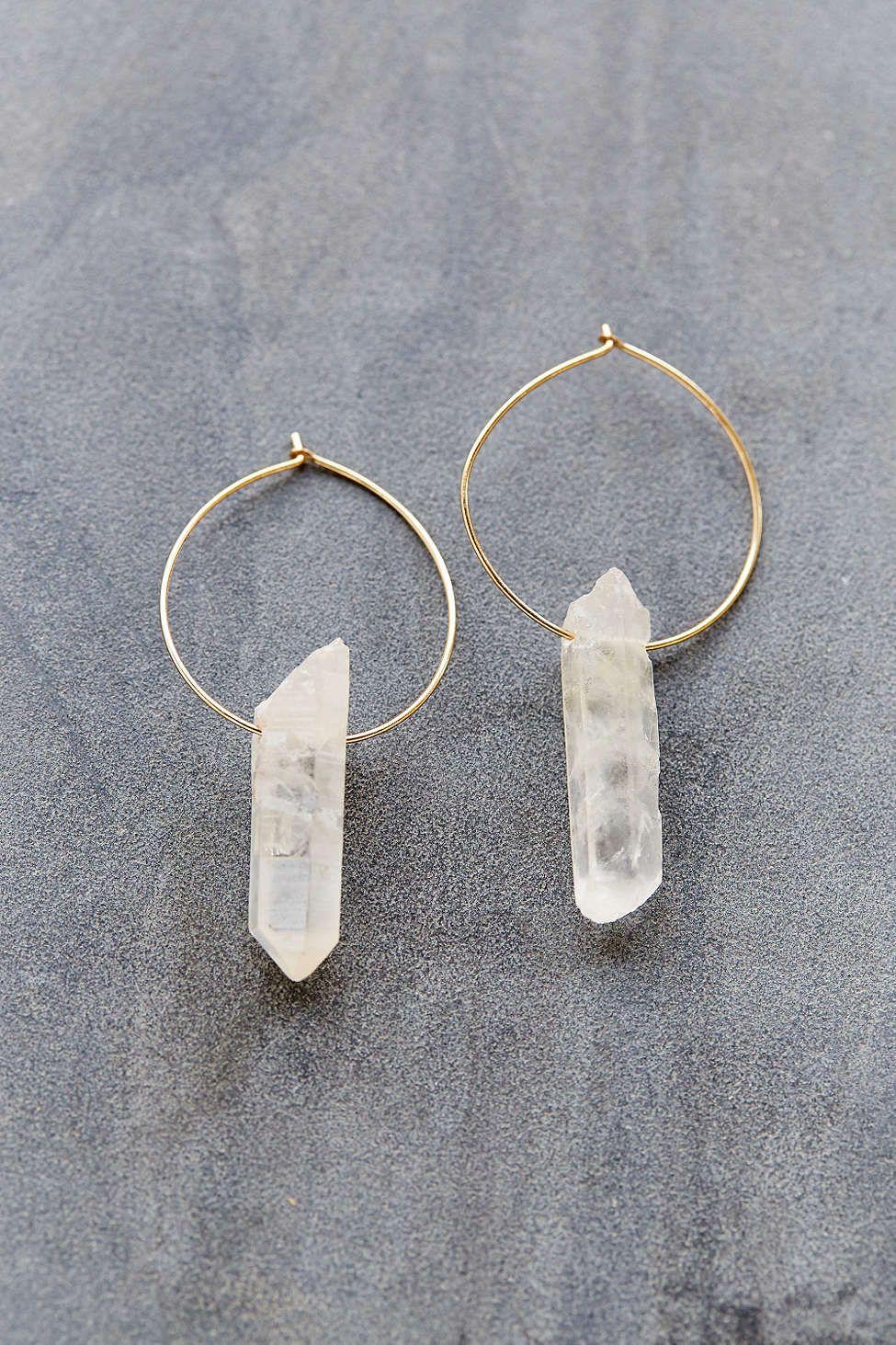ebb458250 Cosmic Dreams Crystal Hoop Earring - Urban Outfitters | Jeweled ...