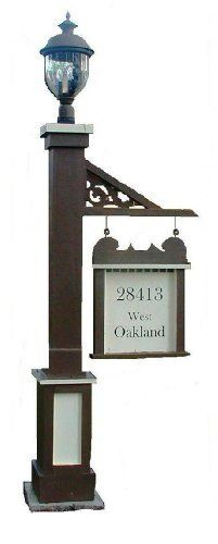 Wood Lamp Post Light Post With Swinging Sign This Old House Products, Http:/