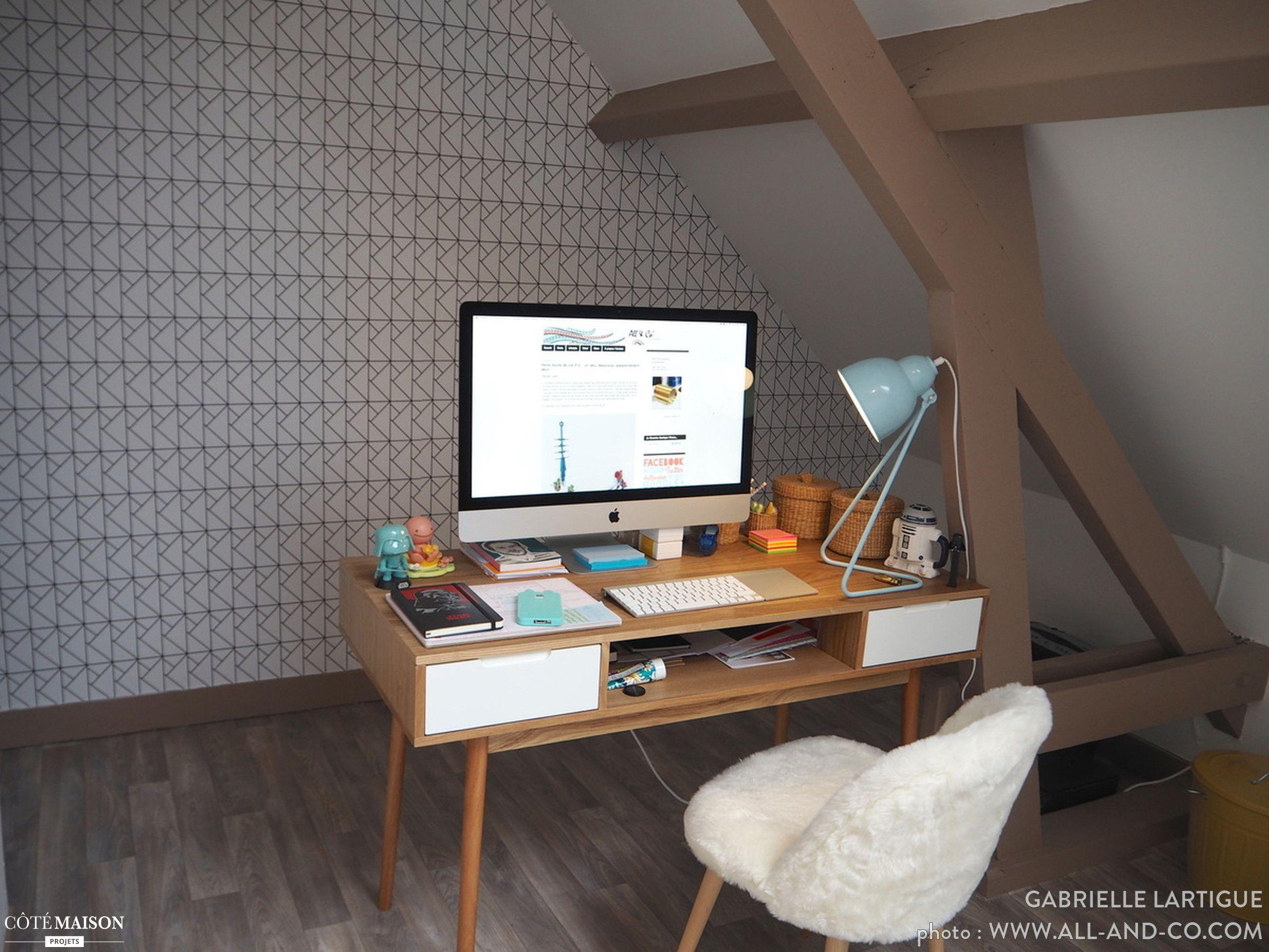 Mon bureau scandinave et coloré gabrielle l côté maison
