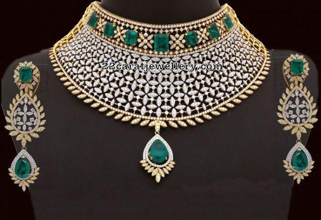 38 Lakhs Heavy Diamond Set Jewellery Designs Bridal Diamond Jewellery Diamond Jewelry Designs Diamond Necklace Set