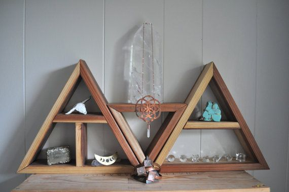 BLADE TEMPLE // Redwood Triangle Altar + Jewelry Display +