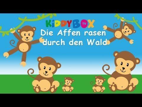Die Affen rasen durch den Wald - Kinderlieder zum Mitsingen - (KIDDYBOX.TV) Karaoke Lyric Songtext - YouTube