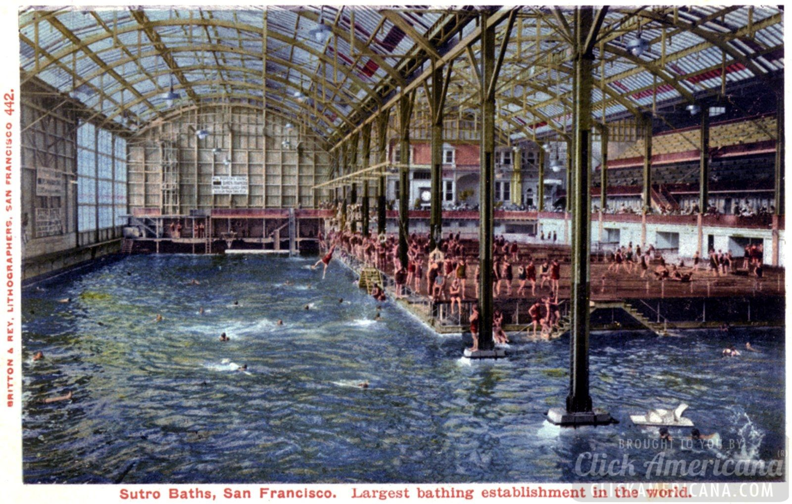 San Francisco S Victorian Marvel The Huge Swimming Pools At Sutro Baths Indoor Swimming Pools Swimming Pool Images Swimming Pool Pictures