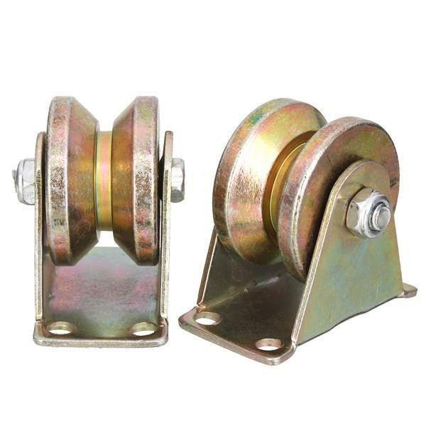 2pcs 660lb 2 Inch V Type Wheel Sliding Gate Roller Steel Whe…