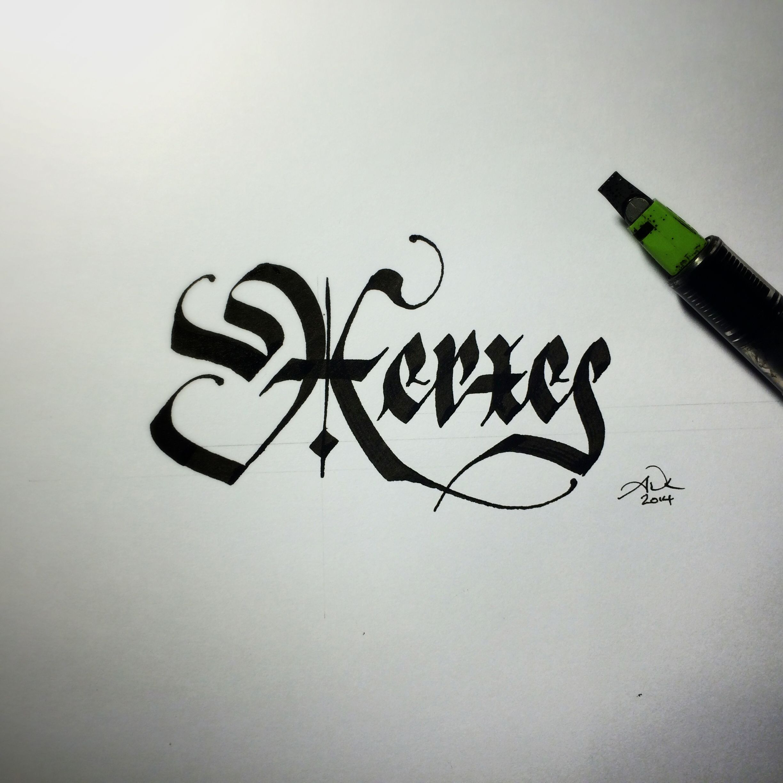 By Sevenseventyfive Andrew Kelly Blackletter Ink