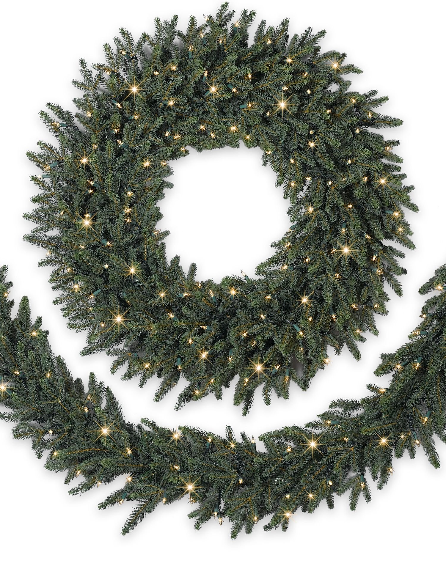 Colorado Mountain Spruce Christmas Wreath and Garland