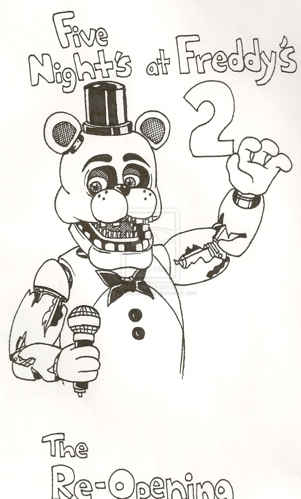 Simple fnaf for Fnaf coloring pages nightmare