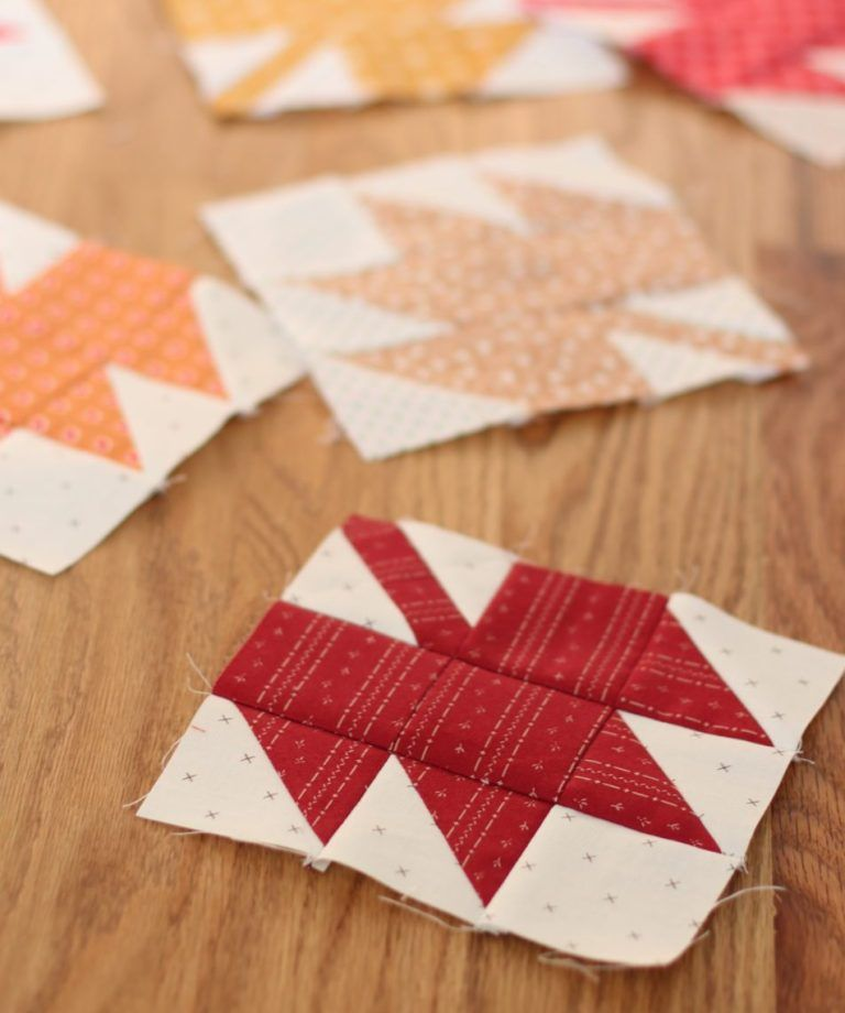 Maple Leaf Quilt Block Tutorial is part of Quilt block tutorial, Quilt blocks, Quilts, Fall quilts, Modern maples quilt, Halloween sewing - Top US quilitng blog, Diary of a Quilter, shares a classic Maple Leaf Quilt Block Tutorial in three different sizes  Click now for more details!