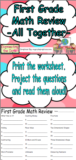 First Grade Math Review | Easy math, Maths and Child