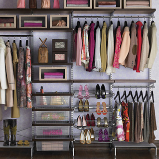 This is such a pretty wall closet